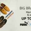 Big Brand sale Mens footwear upto 70% off